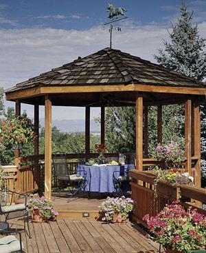 Opremite si teraso ali vrt enaa lifestyle for Gartengestaltung pavillon ideen